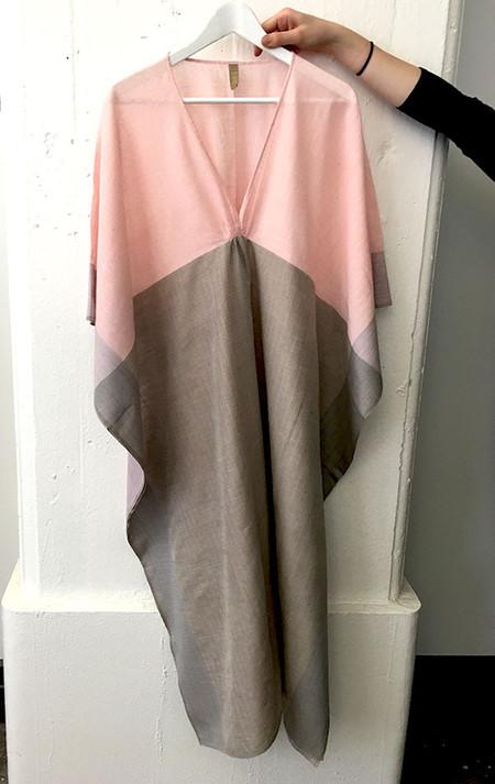 Two Pink and grey khadi caftan
