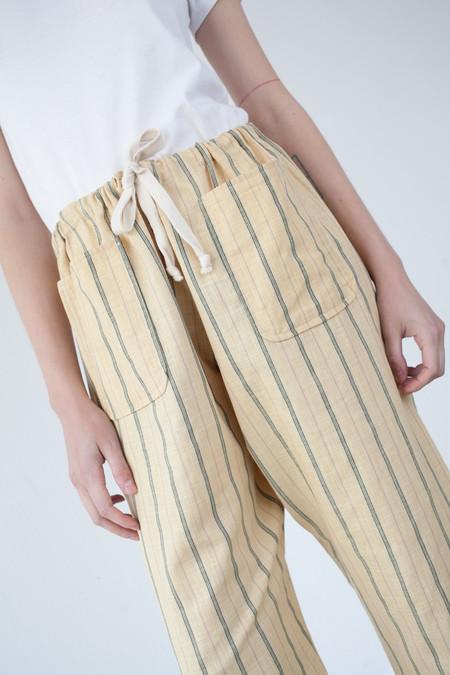Caron Callahan Gwyn Pant in Yellow Pinstripe