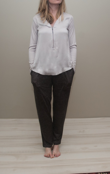 Heather linen skinny pant