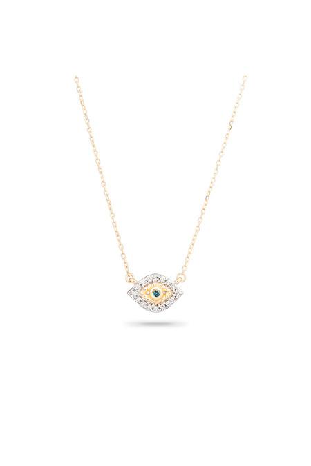 Adina Reyter Super Tiny Pave Evil Eye Necklace