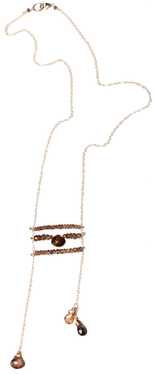 James and Jezebelle Andalucite Ladder Necklace