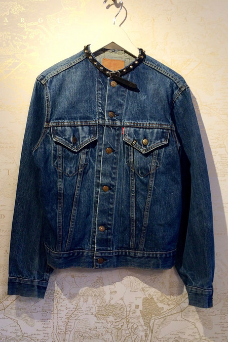 R13 Refurbished Choker Trucker Denim Jacket