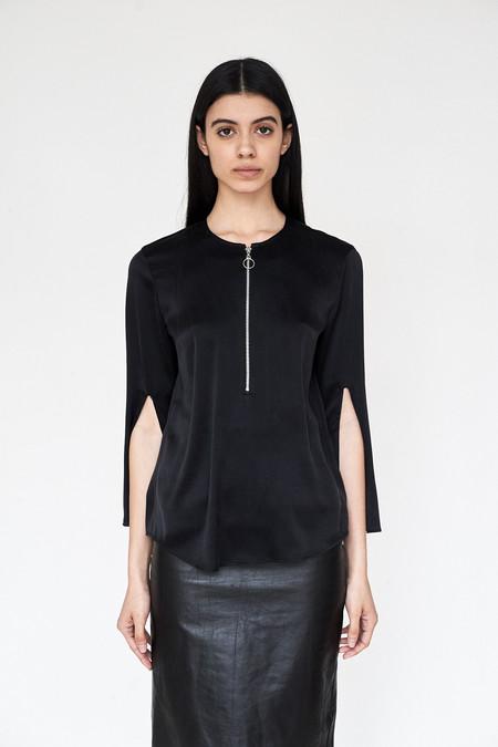 Assembly New York Silk Split Sleeve Top