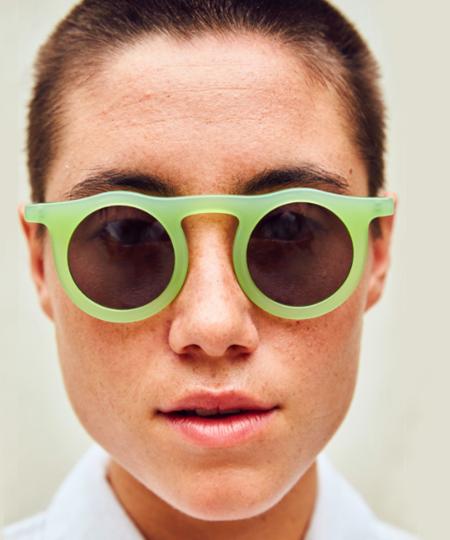 Carla Colour Gangreen Lind Sunglasses