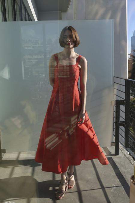 Maryam Nassir Zadeh La Mola Dress in Red