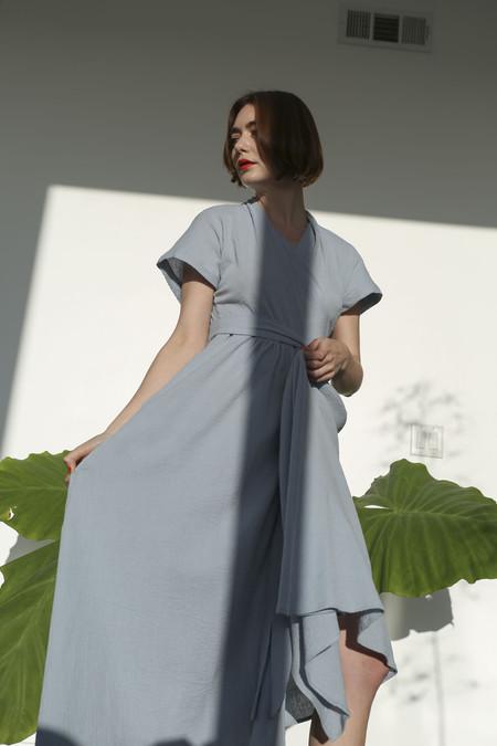 SVILU Merce Dress in Dusk Crinkle Gauze