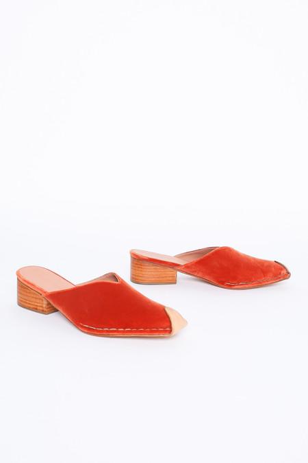 Rachel Comey Sur Slide in Salmon Velvet