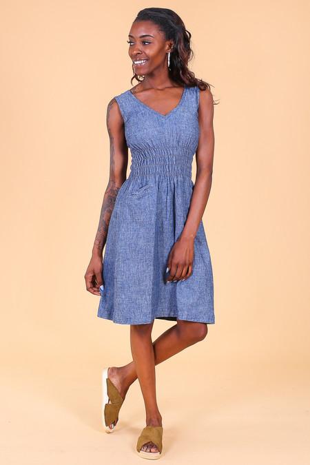 ModaspiaFiji Dress in Indigo Denim