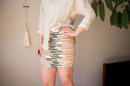 Eve Gravel Gli Skirt