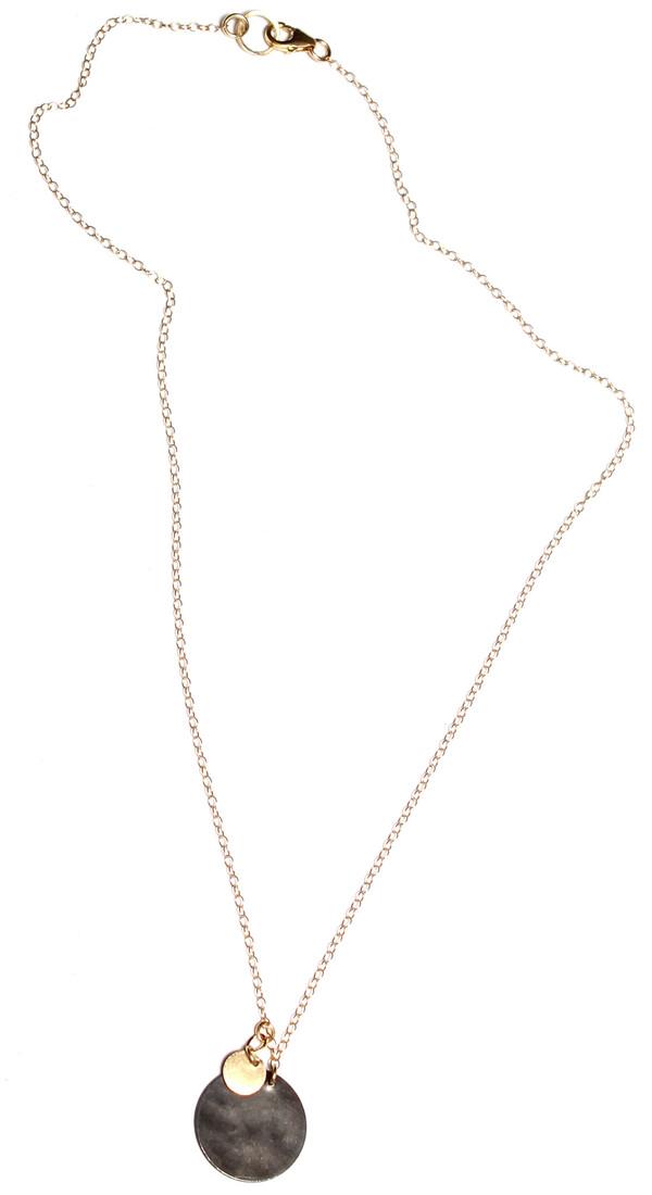 Nancy Caten Hammered Disks Necklace