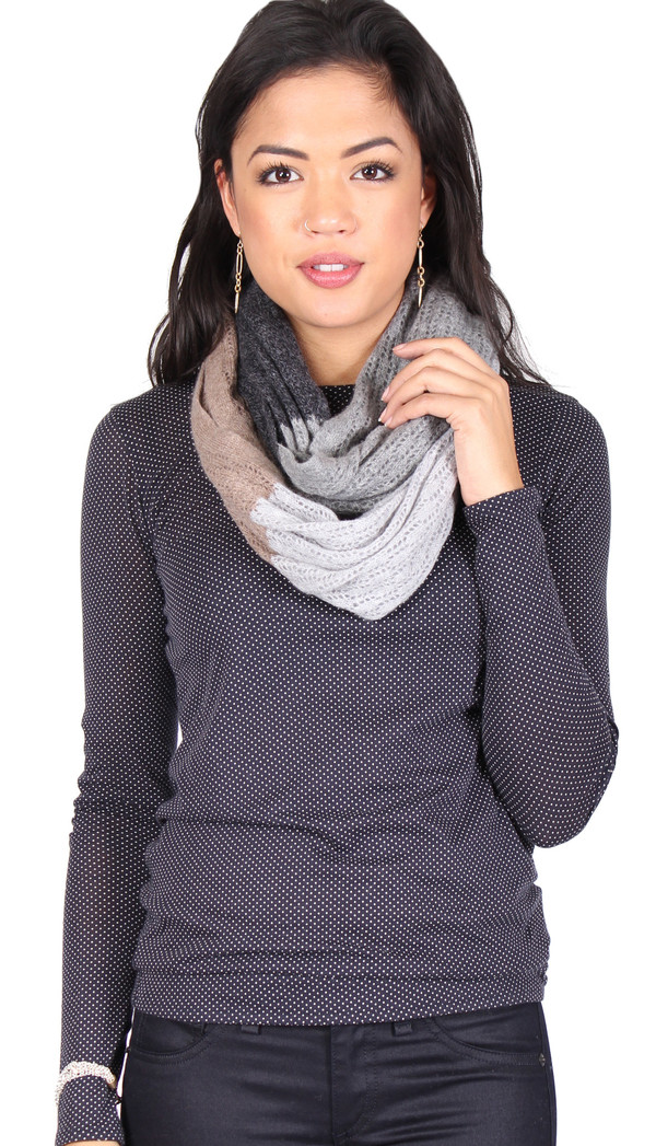 Quinn Hannah Color Block Snood in Coal