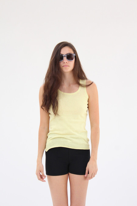 Lina Rennell Cotton Knit Tank Banana