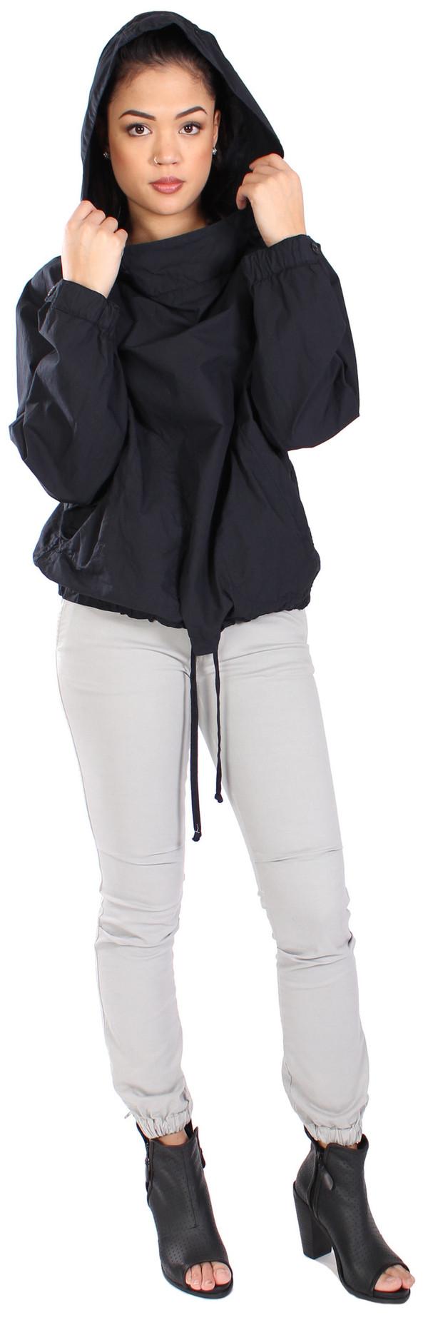 Nili Lotan Hooded Pullover Poplin Anorak