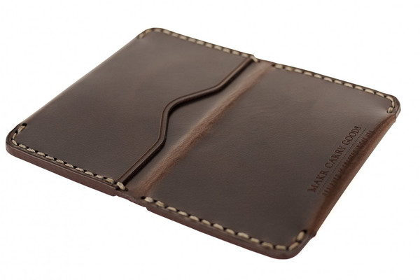 MAKR Horizon Three Wallet in Bark