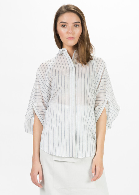 SCHAI Sheer Crescent Shirt