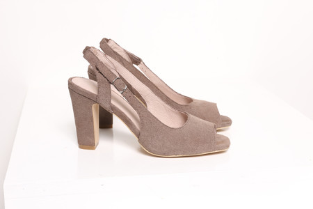 Intentionally Blank NATIONAL Taupe Suede