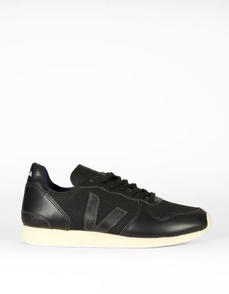 Men's Veja Holiday Low Top B-Mesh Leather Sneaker Black Pierre