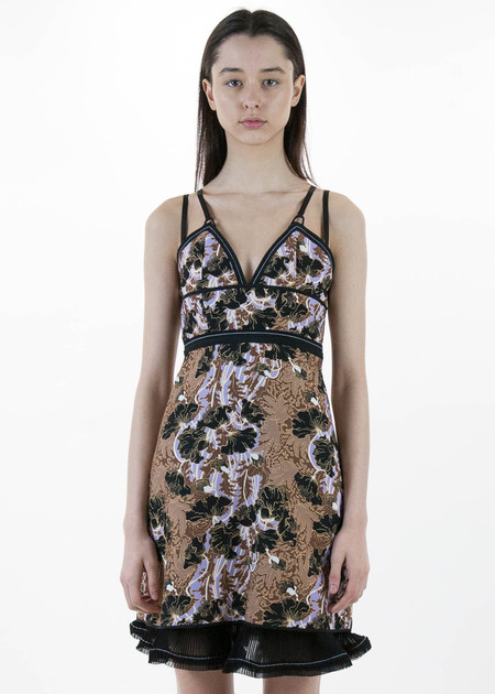 Carven Floral Jacquard Fitted Dress