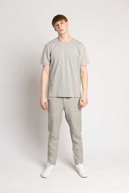 Wings + Horns Grey Knit Split T-Shirt