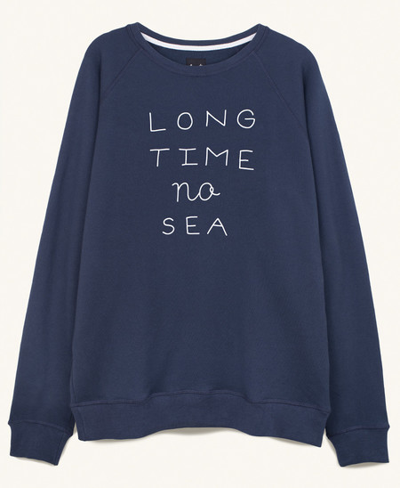Pleasant Long Time No Sea Sweat in Navy