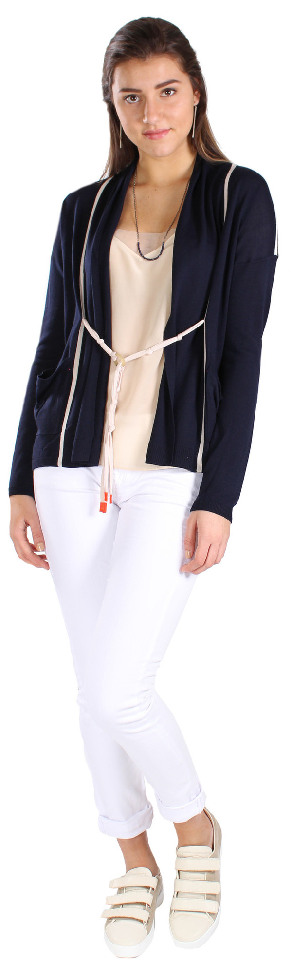 Label+Thread Ring Tie Cardigan