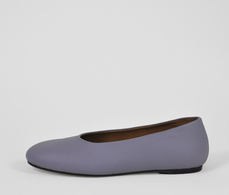 The Palatines Shoes adeo high vamp ballet flat - plum leather