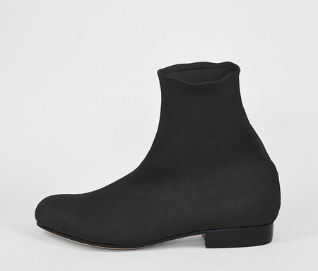 The Palatines Shoes firmo stretch boot - black leather