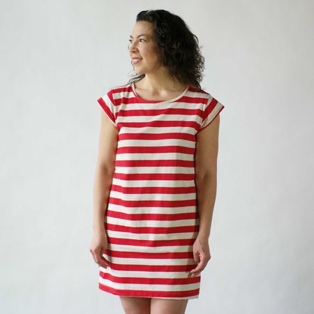 Curator Theo Dress in Red Stripe