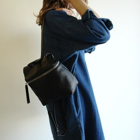 KARA small pebble leather backpack