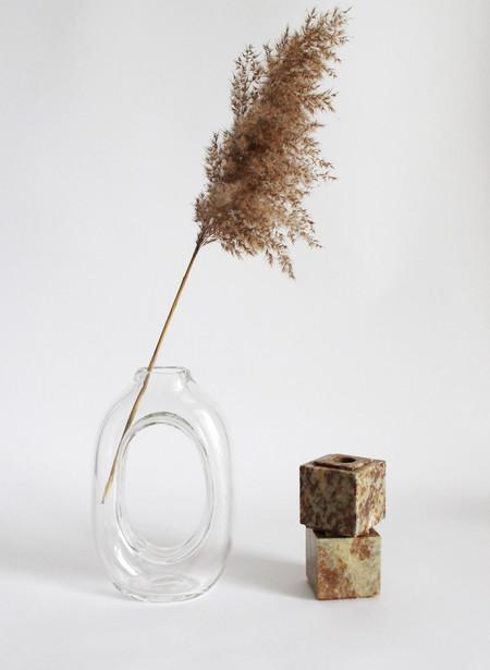 Nanda Soderberg Tall Glass Loop Vase Clear