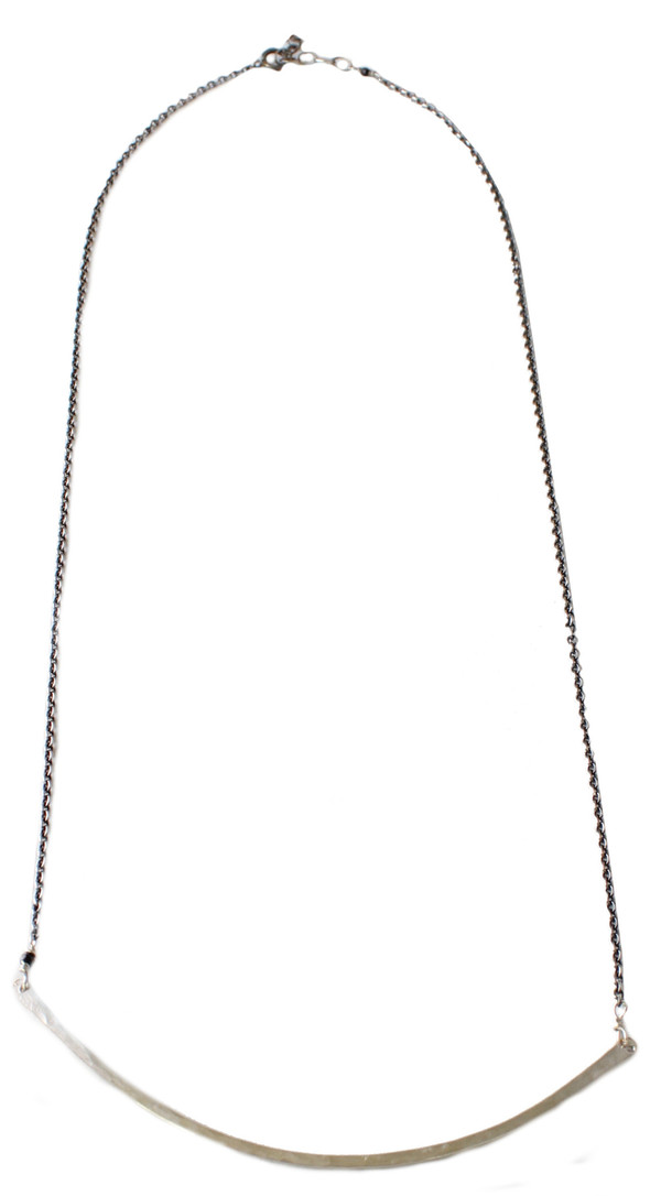 Sarah Dunn Sterling Silver Bar Circle Necklace