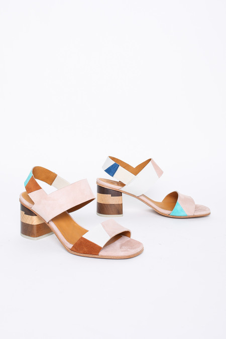 Coclico Banks Sandal in Teal Patchwork