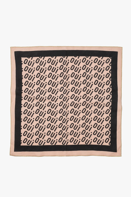 Clare V. Oui Bandana in Black/Blush
