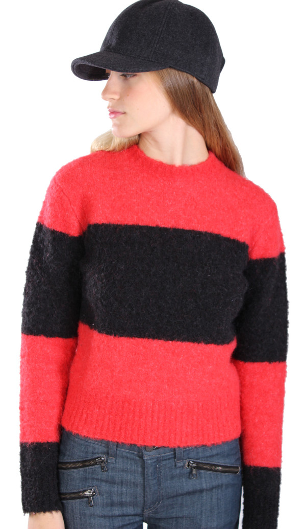YMC Striped Crop Knit