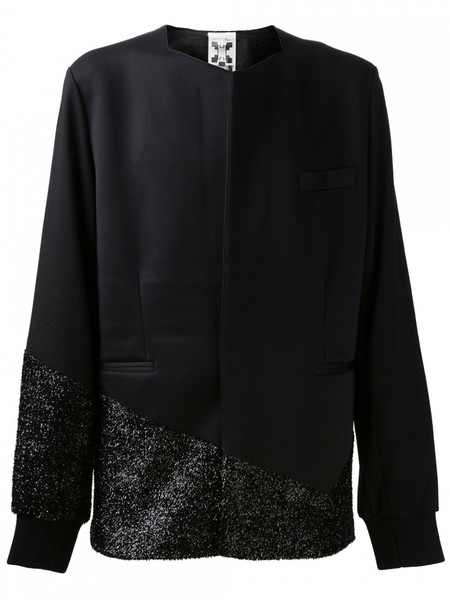 MEN'S HORACE NEOPRENE TAILORED JACKET WITH LAME DETAILS