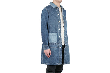 Remi Relief GRUNGE COVERALL JACKET (REMAKE) - USED BLUE