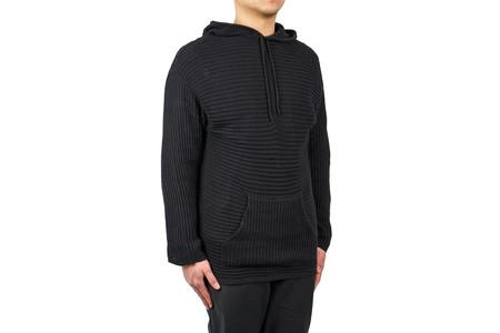 "Stampd Striped Knit Poncho Sweater ""Black"""