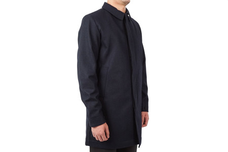 """Norse Projects THOR STORM WOOL COAT """"DARK NAVY"""""""