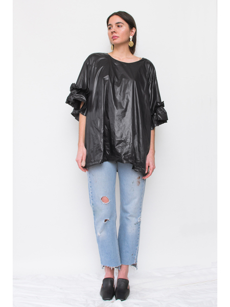 Dumitrascu Ruffled T-Shirt, Black