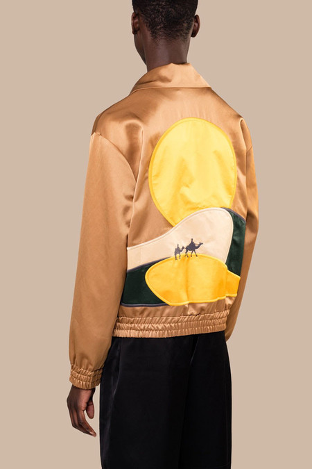 CMMN SWDN Rodeo Embroidered Track Jacket | Camel