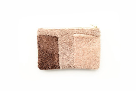 Primecut Mauve Shapes Patchwork Sheepskin Clutch