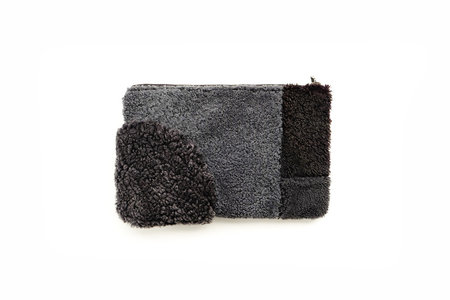 Primecut Blue Grey Patchwork Sheepskin Clutch