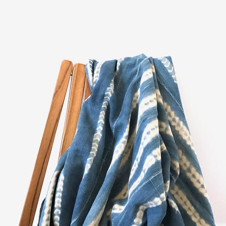 Gather Home + Lifestyle Vintage Indigo Mudcloth Throw