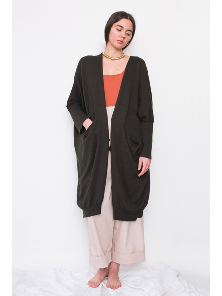 Lauren Manoogian Fine Wide Cardigan - Pine Black