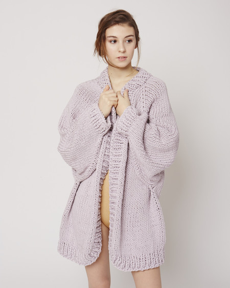 I love Mr Mittens Balloon sleeve cardigan in lilac