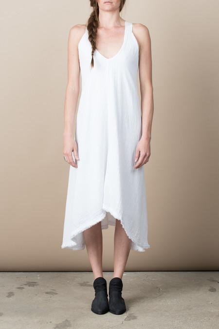 Pharaoh Trapeze Dress In White