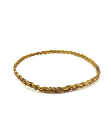 Cold Picnic Single Rope brass bracelet