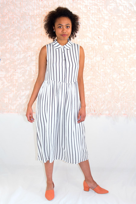 Lucca Couture Midi Collared Shirt Dress