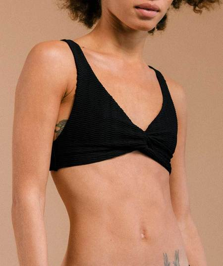 Prism Buzios Bikini Top - Black Waves
