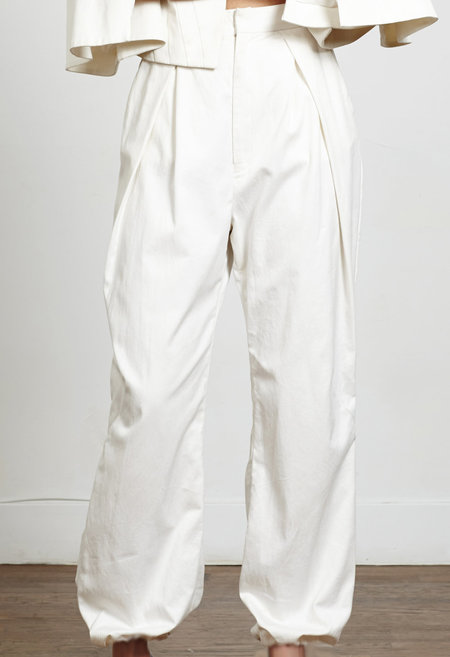 VINCETTA Gathered Hem Trouser